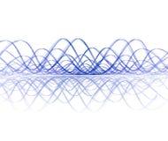 Koel soundwave met bezinning Royalty-vrije Stock Foto's