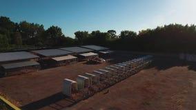 Koelandbouwbedrijf die hierboven schieten van stock footage