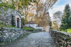 Koelboxen in het meer Varese, provincie van Cazzago Brabbia van Varese, Italië Stock Foto's