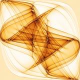 Koele Abstracte Gouden Golvende Lijnen Stock Afbeeldingen