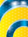 Koele achtergrond met gele golven Royalty-vrije Stock Foto's