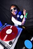 Koele afro Amerikaans DJ Stock Fotografie