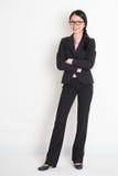 Koele Aziatische bedrijfsvrouw Royalty-vrije Stock Foto's