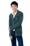 Koele Aziatische tiener Royalty-vrije Stock Foto's