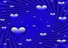 Koele blauwe harten vector illustratie