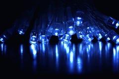 Koele Blauwe LEIDENE lichten Stock Foto's