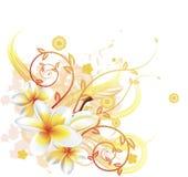 Koele bloemenachtergrond royalty-vrije illustratie