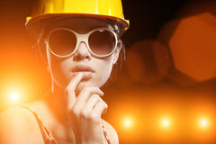 Koele bouwvakker stock afbeeldingen