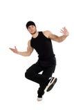 Koele dansende mens royalty-vrije stock afbeelding