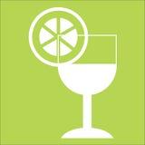 koele drank met citroenplak vector illustratie