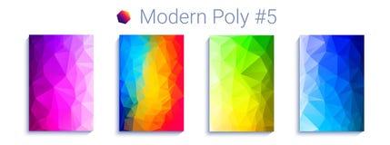 Koele driehoekige gradiëntachtergrond Modern abstract geometrisch patroon Helder colorfullbehang Vector stock illustratie