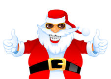 Koele gelukkige Kerstman Royalty-vrije Stock Afbeelding