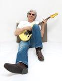 Koele gitarist. royalty-vrije stock foto's