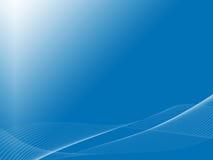 Koele golven op blauwe backbround stock illustratie