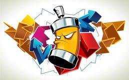 Koele graffiti Royalty-vrije Stock Foto