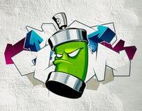 Koele graffiti Royalty-vrije Stock Afbeeldingen