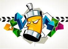 Koele graffiti Stock Afbeelding