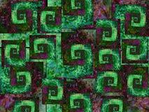 Koele Groene Purple Als achtergrond Royalty-vrije Stock Foto