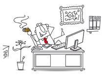 Koele grote werkgever royalty-vrije illustratie