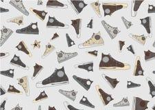 Koele hand-drawn sportschoenen Royalty-vrije Stock Foto
