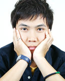 Koele jonge Aziatische kerel Royalty-vrije Stock Fotografie