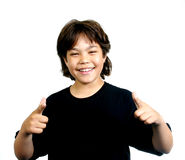 Koele jongen (reeks) Stock Fotografie