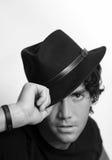 Koele kerel met hoed Royalty-vrije Stock Afbeeldingen