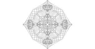 Koele mandala Stock Afbeeldingen