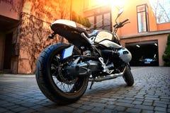 Koele motorfietsclose-up royalty-vrije stock afbeelding