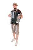 Koele musicus met concertina royalty-vrije stock foto