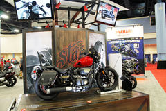 Koele nieuwe motorfiets royalty-vrije stock foto's