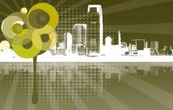 Koele stedelijke achtergrond Royalty-vrije Stock Afbeelding