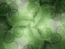 Koele Texturen in Groene Wervelingen Stock Afbeelding