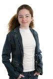 Koele Tiener in Denim Stock Foto's