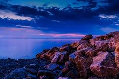 Koele uit Zonsondergang Stock Afbeeldingen