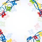 Koele van de banner glanzende kleur vorm als achtergrond Royalty-vrije Stock Foto's