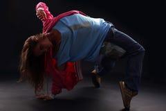 Koele vrouwen moderne danser stock afbeelding