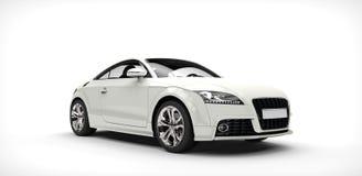 Koele Witte Auto Royalty-vrije Stock Afbeeldingen