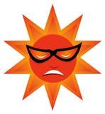 Koele zon stock illustratie