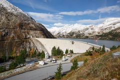 Koelnbrein Dam and the dam reservoir. Austria. Koelnbrein Dam and the dam reservoir in the Hohe Tauern range within federal state of Carinthia, Austria Stock Photos