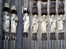 Koelner Dom. Ancient medieval statues at Koelner Dom (Koln cathedral), Germany Royalty Free Stock Photo
