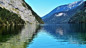 Koenig see Germany. Bayern Water royalty free stock photos