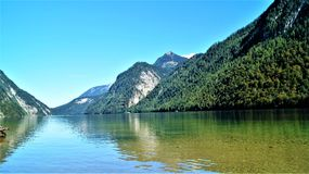 Koenig see Germany. Bayern Water stock image