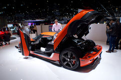 Koeniggsegg One:1 Geneva 2016 Royalty Free Stock Image