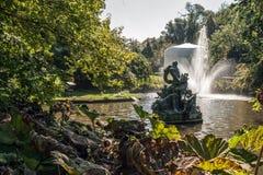 Koenigs Astrid Park på Brugge, Belgien Royaltyfri Fotografi