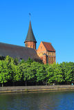 Koenigsberg大教堂在加里宁格勒 免版税库存图片