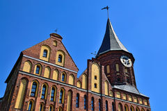 Koenigsberg Cathedral. Kaliningrad (until 1946 Koenigsberg), Russia. Koenigsberg Cathedral - Gothic temple of the 14th century. The symbol of Kaliningrad (until royalty free stock photos