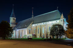 Koenigsberg Cathedral in the night, Russia Royalty Free Stock Photography