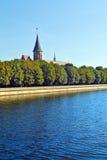 Koenigsberg domkyrka. Kaliningrad (till Koenigsberg 1946), Ryssland royaltyfria bilder