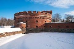 Koenigsberg fortDer Dona. Kaliningrad. Ryssland Arkivfoto